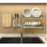 Large Capacity Durable Stainless Steel Kitchen Rack With Drain Board Manufactures