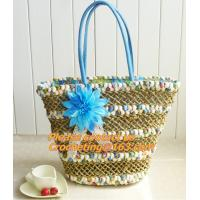 Tote Shopping Beach Bag Purse Handbag Straw Beach Bags Handbag High-Capacity Women Handbag Manufactures