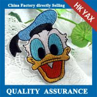 donald duck custom embroidery patch new design,embroidery patch donald duck for accessory jx0819 Manufactures