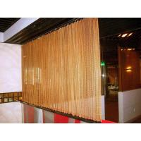 Decorative Wire Mesh Curtain Coil Drapery Stainless Steel / Aluminum Materials Manufactures