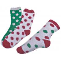 Polka dot pattern ,Aloe Infused SPA Socks polyester plush therapy spa sock Manufactures