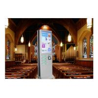 Network Multi Cell Phone Charging Stations Kiosk With Big Advertising Screen Manufactures