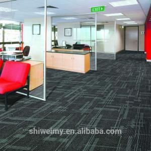 Modern grid pattern 1/12 inch pp floor carpet tile Manufactures