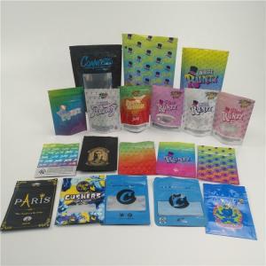 China Custom small plastic mylar bags for powder, pill, HEMP Ziplock Packaging Bag for tobacco on sale