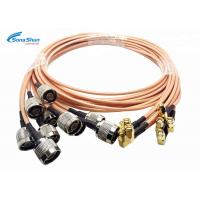 LAN System RF Microwave Cables , SMA Male Right Angle Plug RF Connection Cable Manufactures