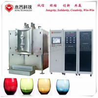 China Arc Ion Vacuum Plating Equipment Wine Glass Bottles TiN Gold Coating on sale