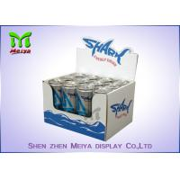 Waterproof corrugated material cardboard countertop display boxes for energy drink Manufactures