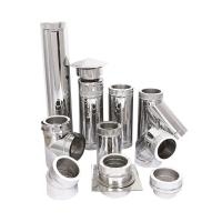 90 Degree Spigot Insulated Chimneys Components Weather Proof High Density Manufactures