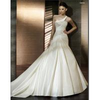 China Sweetheart Ball Gown One Shoulder Pleated Satin Wedding Dressing Gowns / Bridal Gowns on sale