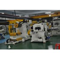 China Steel Coil Manual Uncoiler Sheet Metal Decoiler Punch Three In One Feeder on sale