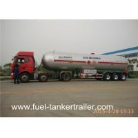 Tri-Axle LNG / LPG Semi Trailer With Spring / Air / Bogie Suspension Manufactures