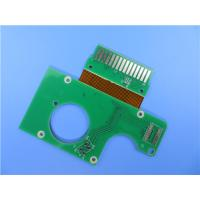 China Rigid-flex PCBs Built on FR-4 and Polyimide with Immersion Gold on sale