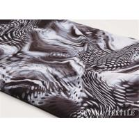 Snake Tiger Lilly Print Polyester Spandex Fabric Warp Stretch For Bikini Swim Suit Manufactures
