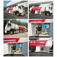 high quality 6x4 HOWO 25300 liters gas cylinder transportation lpg tanker truck for sale Manufactures