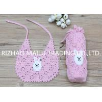 China Adjustable Size White Crochet Baby Items With Eco Friendly Comfortable Cotton for sale