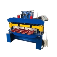 China 686 IBR Sheet Roll Forming Machine Step Tile Roll Forming Machine for roofing on sale