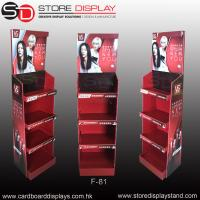 Quality POP daily necessities corrugated floor display rack for shampoo for sale