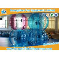 Blue / Green / Pink Human Sized Bubble Ball Inflatable Hamster / Fuzzy Football Manufactures
