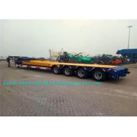 Tri Axles 50 Tons SINOTRUCK Heavy Duty Low Bed TrailersFor Machine Transport Manufactures