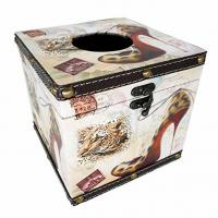 Waterproof Cute Decor Tissue Box Holder High Heels Square Tissue Box with Latch for Bathroom Decor Manufactures
