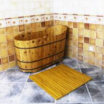 Customized WPC Wood Shower Floor WPC Bathroom Decking 60cm x 40cm Manufactures