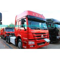 SINOTRUK Howo 6X4 Prime Mover Truck 371HP , Red Unloading Trucks , Color Can Be Selected Manufactures