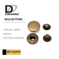 Anti Brass Spring Snap Socket Buttons 4 - Parts For Jacket Bulk Trims Available Sizes Manufactures