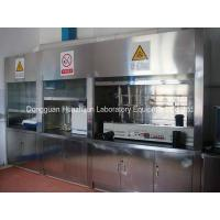 China Customized 304 SS Laboratory Fume Cupboards With Hood Remote Control / Valve Cup Sink on sale