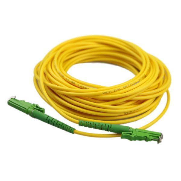Quality PVC Fiber Optic Patch Cord E2000 APC Metal Cap 9/125 1310/1550 Wavelength G652D for sale