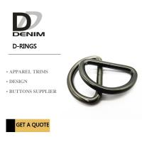 Black Ancient Silver metal d rings Clothing Buckles Trims Standard Size 1.5cm ~ 5cm Manufactures
