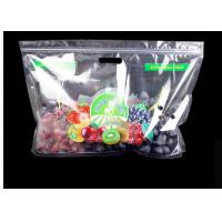 Transparent Plastic Fruit Saver Bags Reusable Handle Custom Design