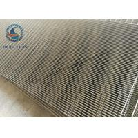 Low Carbon Steel Woun Wedge Wire Screen Panels For Coal Washer 1219 Mm Length Manufactures
