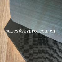 China Black High Tensile Rubber Soling Sheets W Wave Pattern Natural Gum Rubber Sheet For Shoe Sole Material on sale