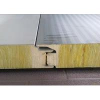 China Professional Prefabricated Building Components Rrockwool Sandwich Panel on sale