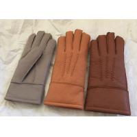 Merino Lambswool Lined Gloves , Womens Shearling Sheepskin Mittens Waterproof Manufactures
