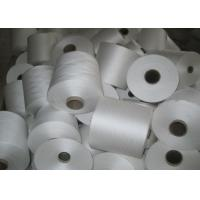 Raw White 100% Polyester Ring Spun Yarn For Sewing Thread Manufactures