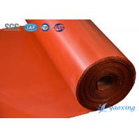 Aging Resistant Silicone Coated Fiberglass Fabric Two Sides Silicone Rubber Coated Glass Fabric Manufactures