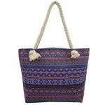 Bohemian Wind Custom Shoulder Bags , Cotton Handles Tote Bags Manufactures