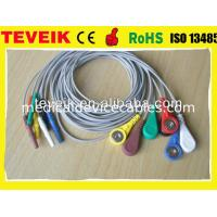 China Din 1.5 Holter ECG Leadwire For Patient Monitor, 7 leads Snap IEC on sale