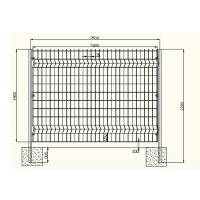 China Acid Resisting Square Welded Wire Mesh , Welded Wire Fence Panels Simple Structure on sale