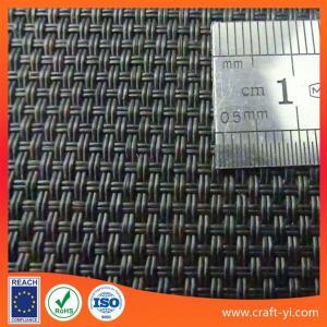 Black color textilene sun loungers fabric 2X2 woven style Manufactures