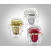 200g Trapezium Transparent Acrylic Cream Jars Acrylic Bottles Package With Flat & Dome Cap Manufactures