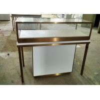 Durable Jewelry Store Fixtures  / Store Display Cases With Stainless Steel Frame Manufactures