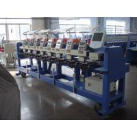 9 Needle Flat / Hat /  Tubular Embroidery Machine With Fast Data Transmission Manufactures