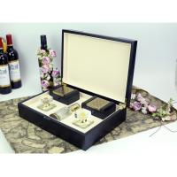 Arab style black wood perfume gift box packaging with 2 small boxes Manufactures