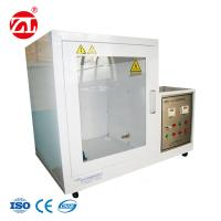 Auto - Ignition & Automatic Timing Safety Helmet Testing Machine / Fire Retardant Tester Manufactures