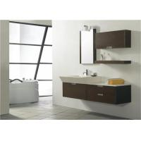 Modern Style Custom Bathroom Vanity Cabinets Lacquer Surface With Quartz Countertop Manufactures