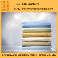 White Jacquard Bed Sheet Fabric Used in Hotels and Hospitals Manufactures