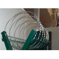 China Cross Loop Razor Wire Stainless Steel Blade Wire Fencing BTO-10 BTO-22 on sale
