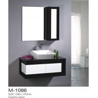 Black And White MDF Bathroom Vanity Piano Keyboard Type Ceramic Basin Mirror Included Manufactures